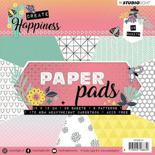 Studio Light Paper Pad 36 vel Create Happiness nr 111 - PPCR111