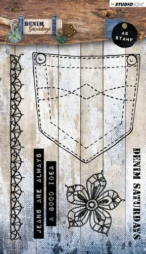Studio Light Stamp A6 Denim Saturdays nr 326 - STAMPDEN326