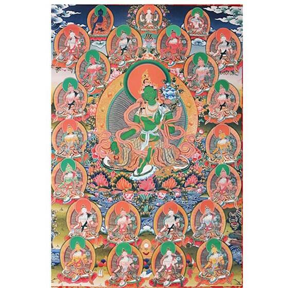 Thangka reproductie 21 Tara's