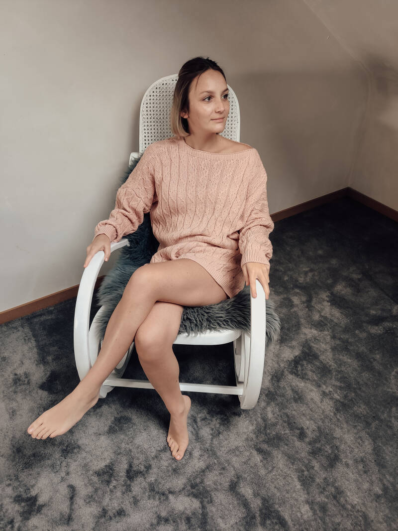 Knitted Homewear Set Pink Shadow
