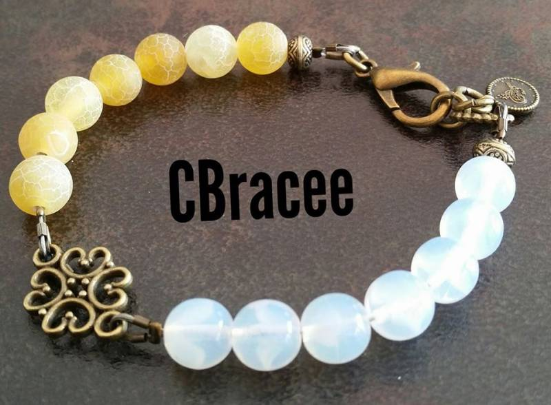 Armband Yellow&Opale White