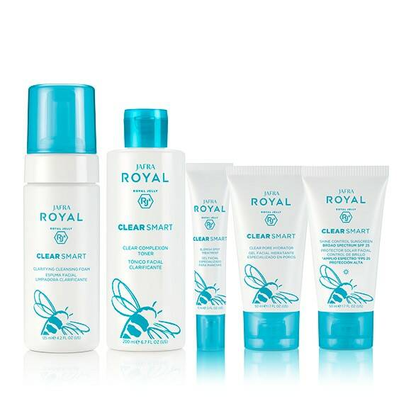 Jafra Royal Clear Smart Set (4 producten) + GRATIS kerst cadeaubox & toilettas!