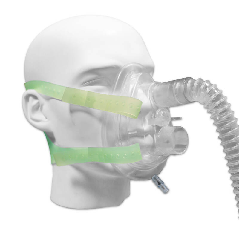 Silicone face mask for CPAP altitude mask