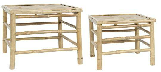 IB Laursen Bamboo Side Table set van 2