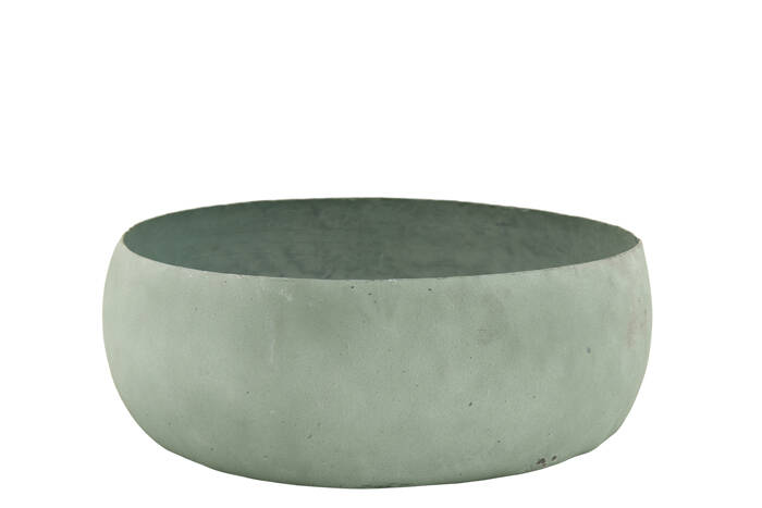 Metal Decoration Bowl L old green