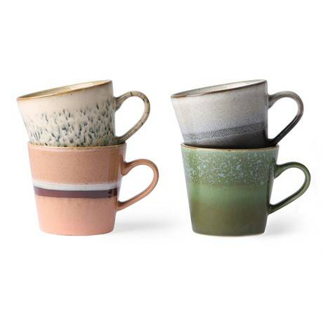 70S CERAMICS: CAPPUCCINO MUGS (SET OF 4)