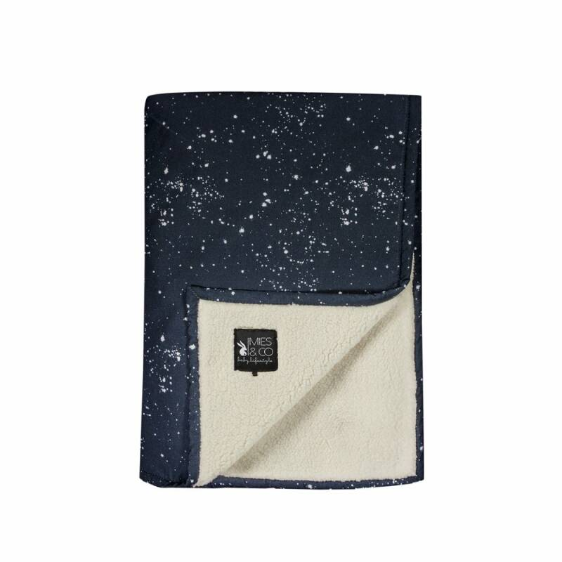 Wiegdeken Teddy Galaxy Parisian Night - 70-100cm - Mies&Co