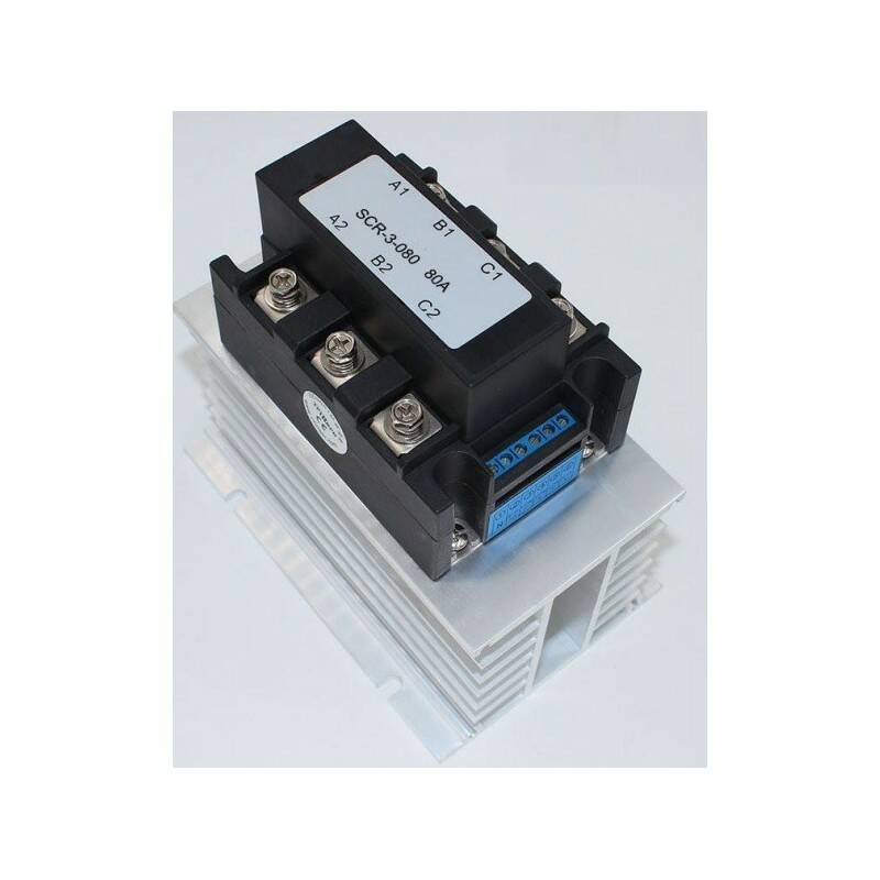 Solid state relais 3fase 400v/100A, 0-10Vdc, proportioneel   51684