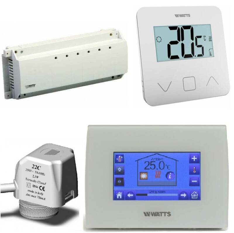 Watts Vision Centrale Touch vloerverwarming wit set   50654 set2