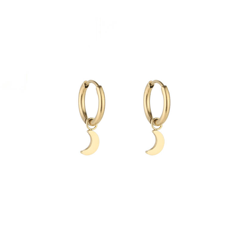 MOON earrings gold