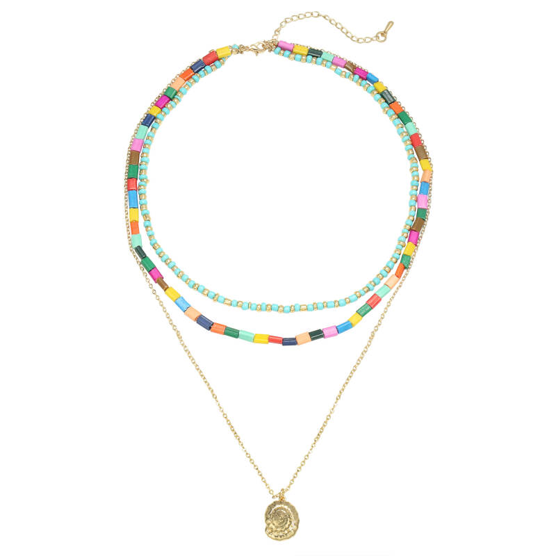 Necklace summer beads gold