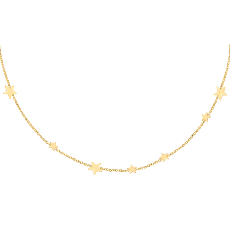 Row stars necklace gold
