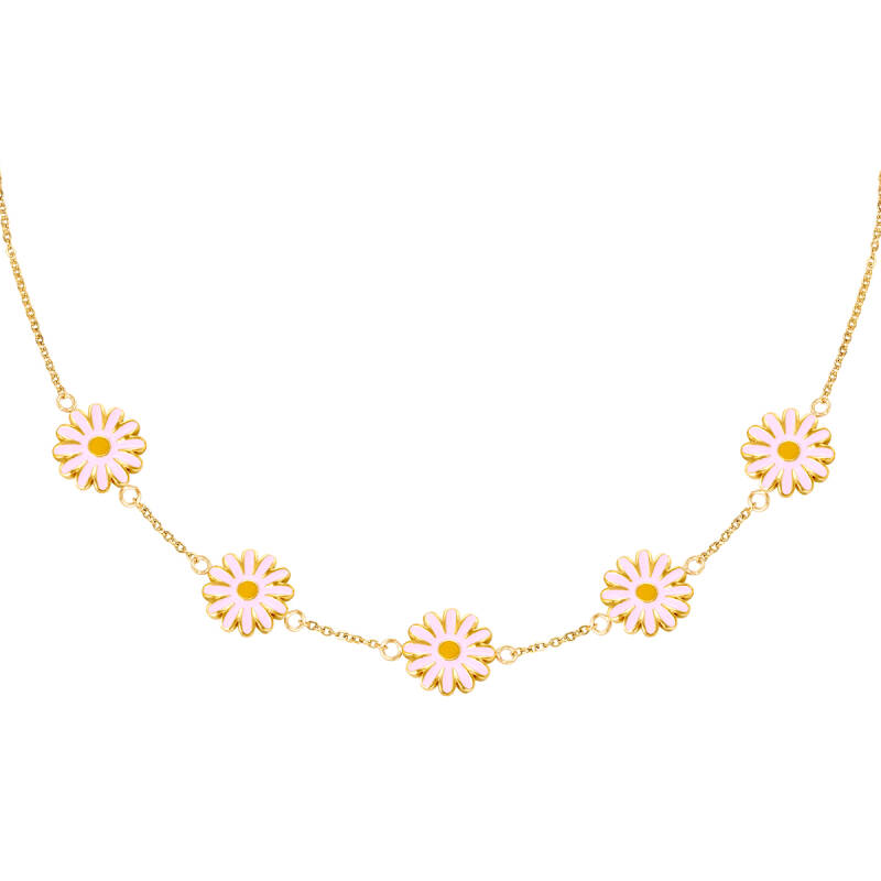 Daisy necklace gold