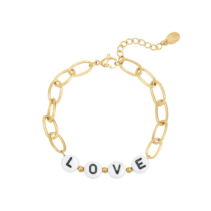 Chain love bracelet gold