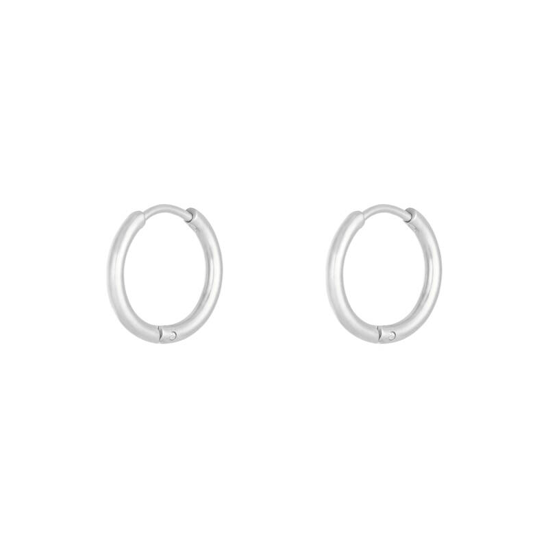Hoops earrings silver