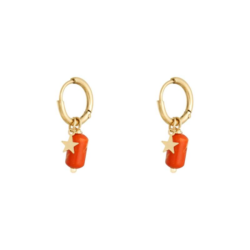 Candy earrings red