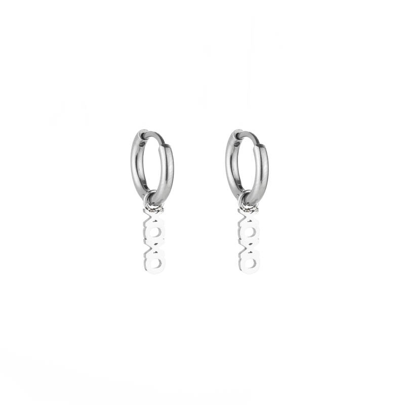 XOXO earrings silver