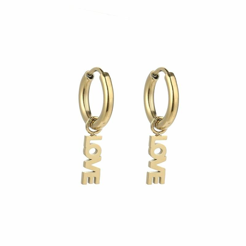 LOVE earrings gold