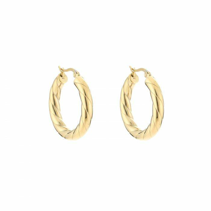 Twisted chunky hoops gold