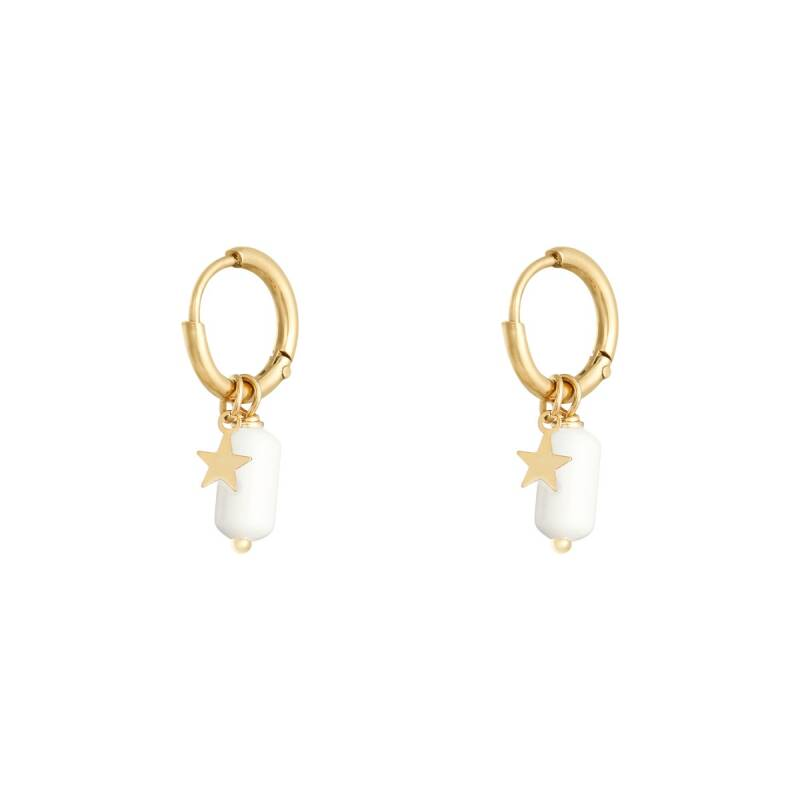 Candy earrings white