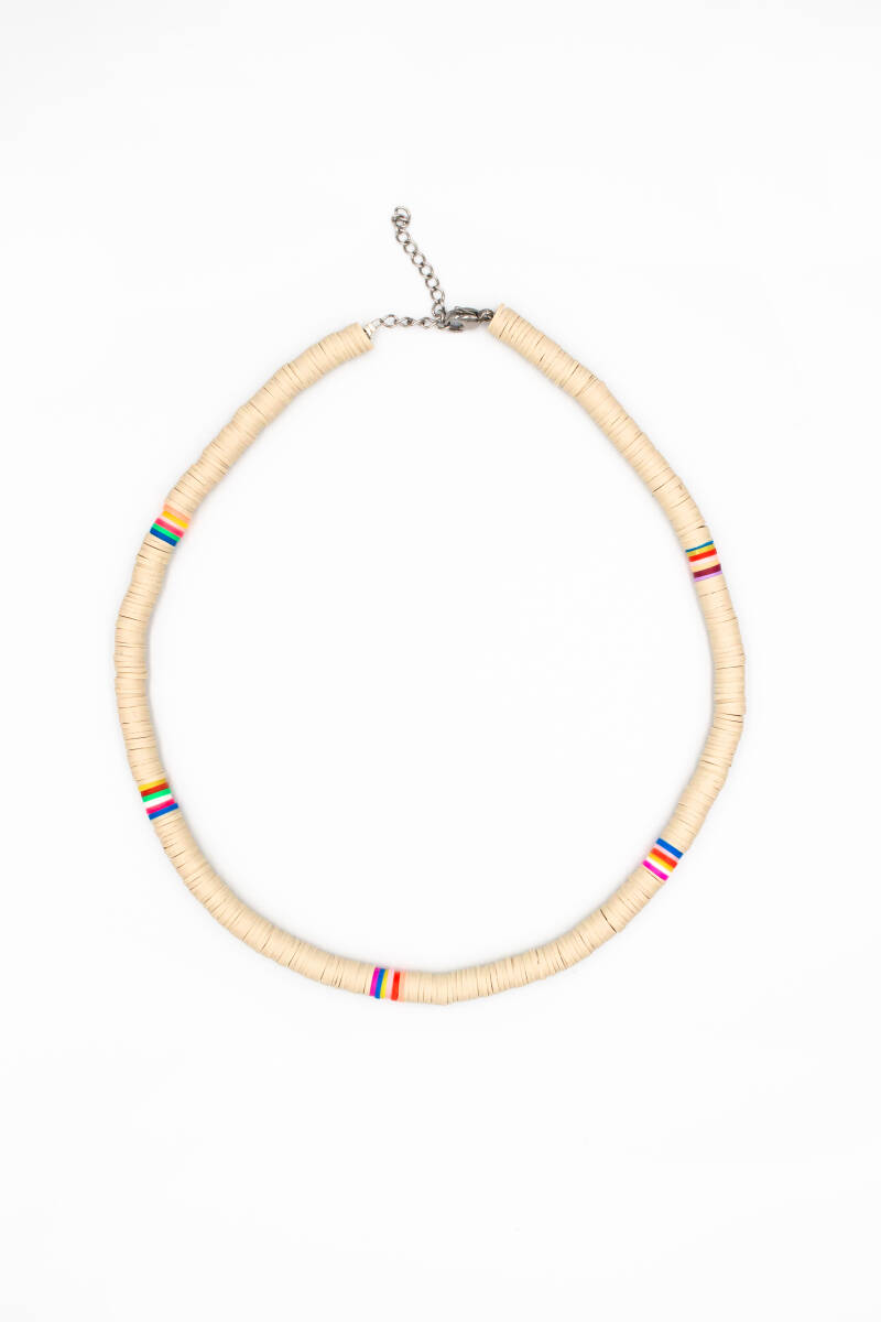 Surfers necklace beige