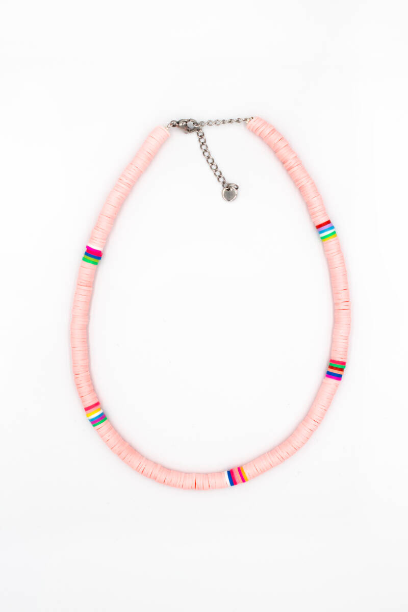 Surfers necklace pink