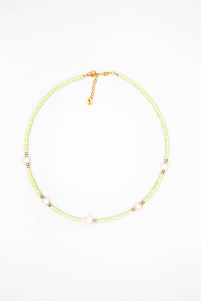Dream pearls necklace green gold