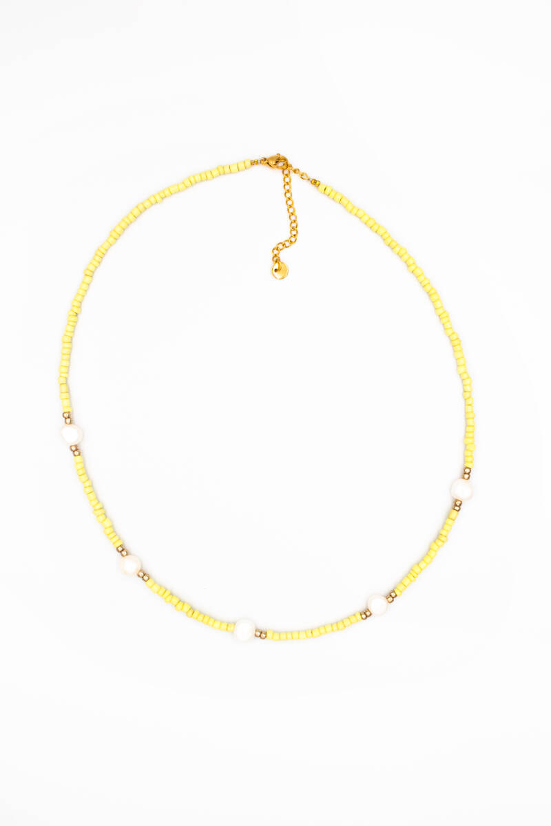 Dream pearls necklace yellow gold