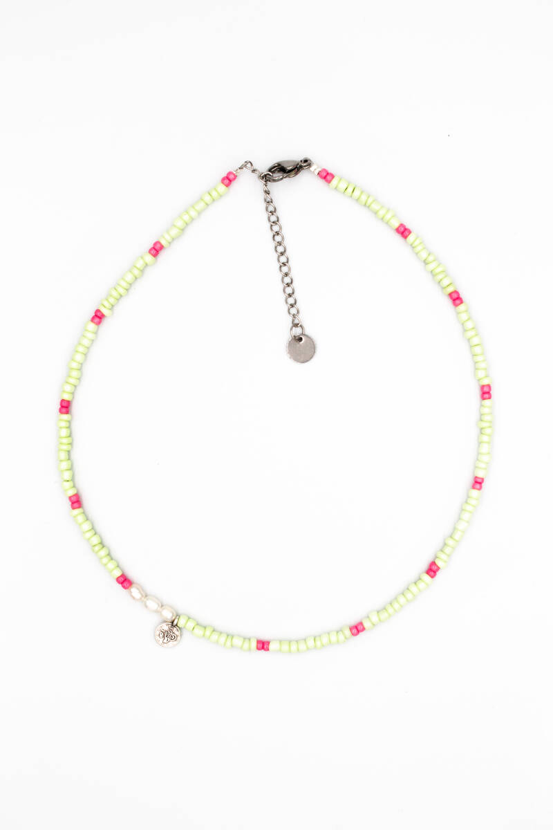 One coin pearls necklace silver