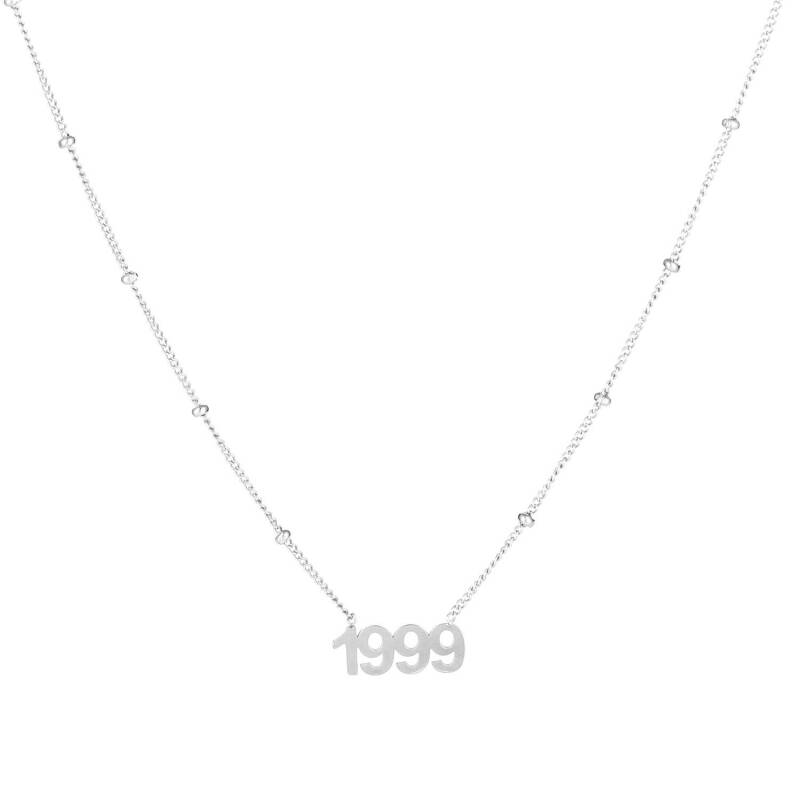 Birth necklace silver