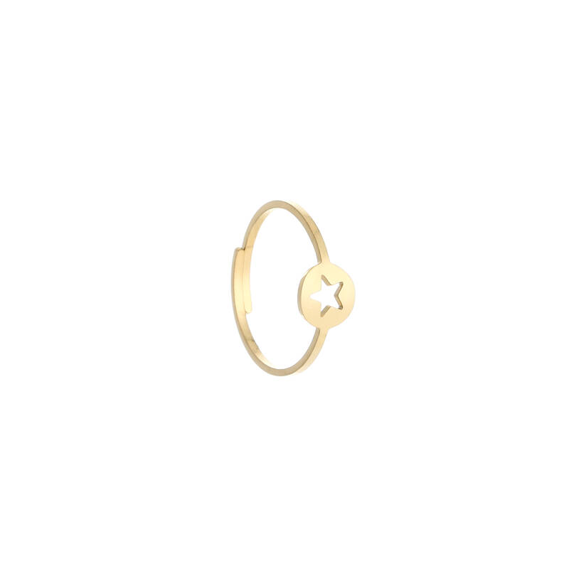 Star ring gold