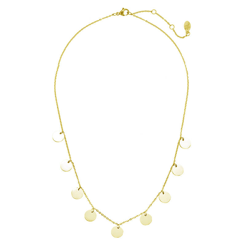 Coins party necklace gold