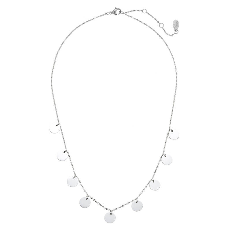 Coins party necklace silver
