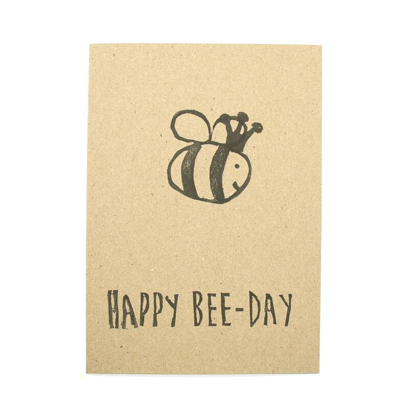 "Kaartje ""Happy bee-day"""