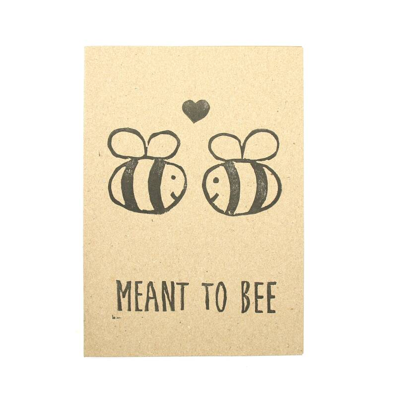 """Kaartje """"Meant to bee"""""""