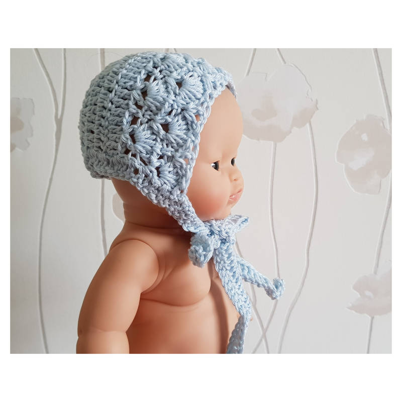 Lace bonnet Ice blue