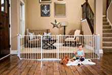 192-Inch Super breed verstelbaar Baby Gate en Play Yard, 4-In-1, Bonus Kit, omvat 4 Pack voor wandmontage