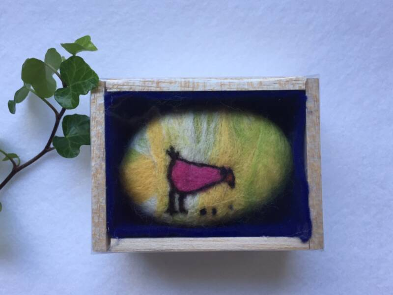 Felted soap chicken