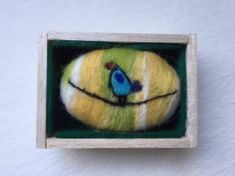 Felted soap bird