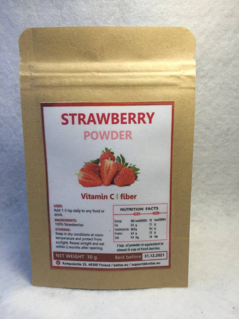 Strawberry powder 30 g.