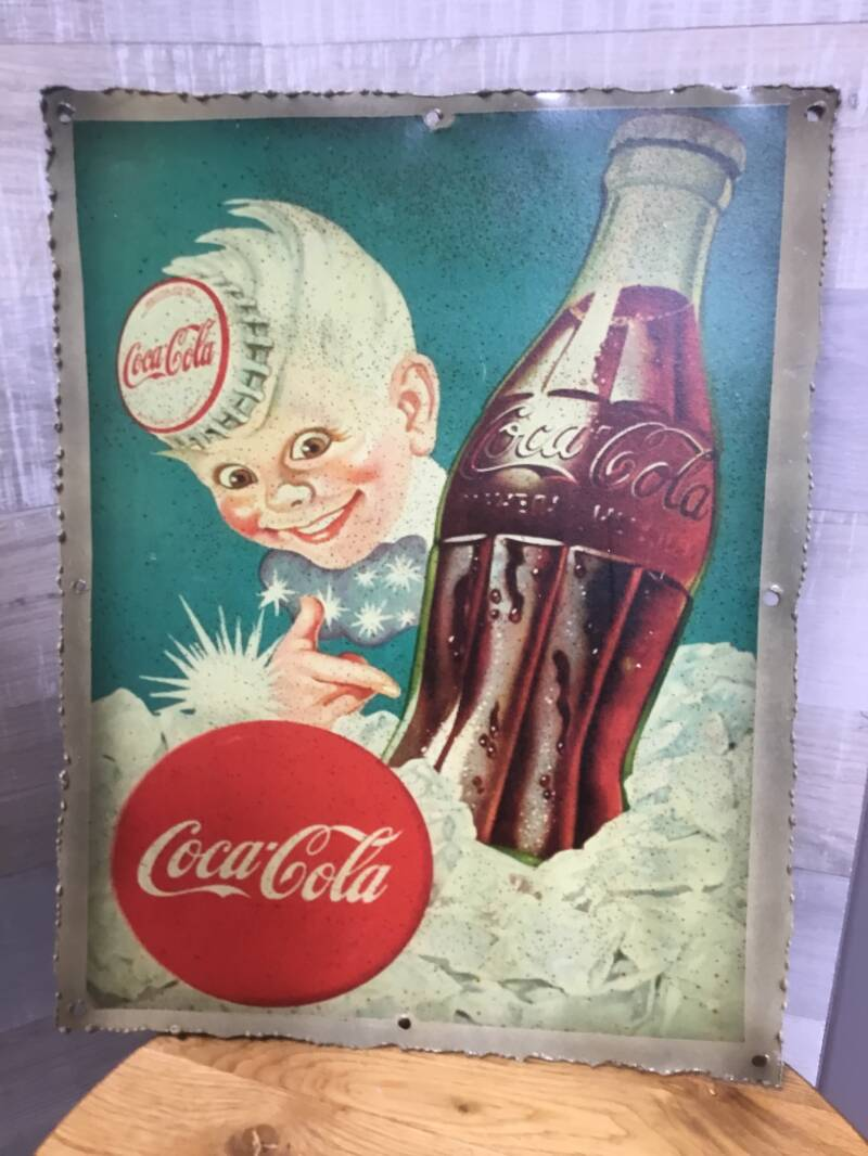 "Metalen plaat ""Coca Cola"""