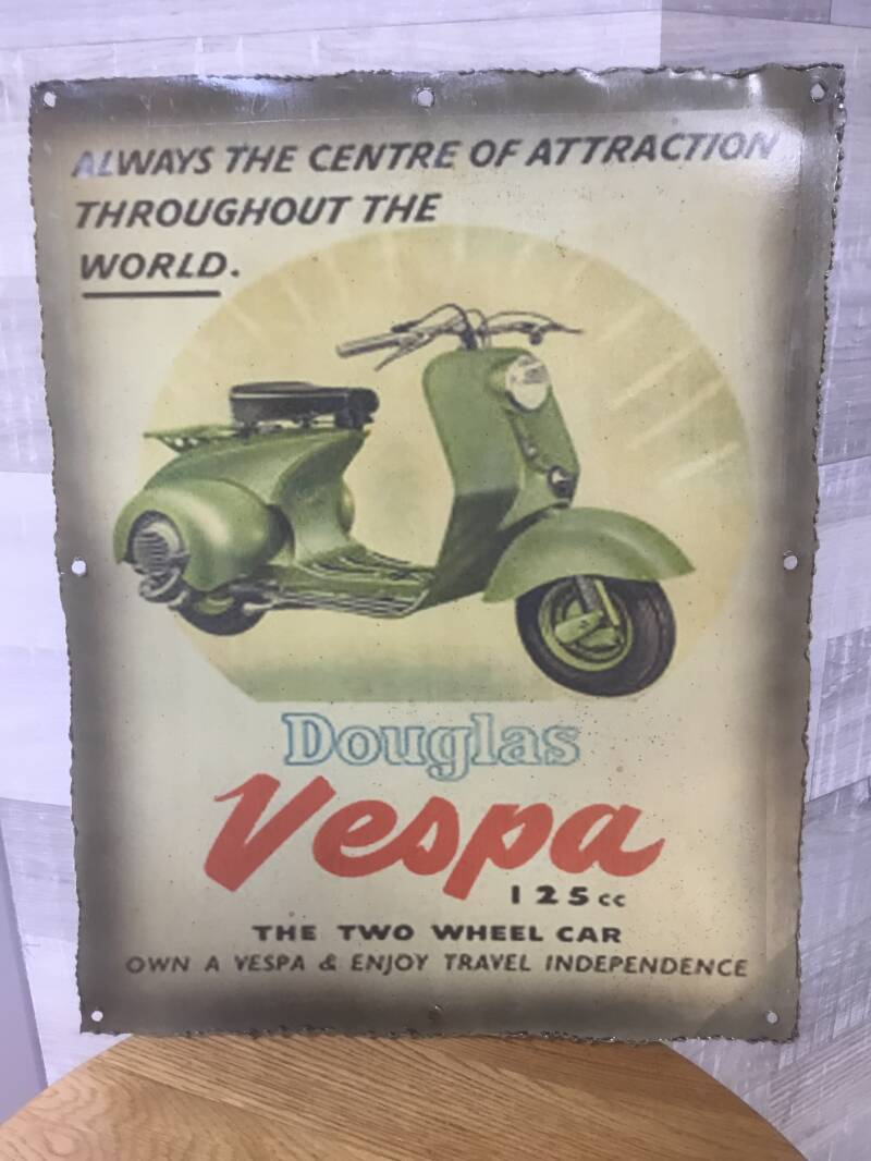 Metalen plaat Vespa