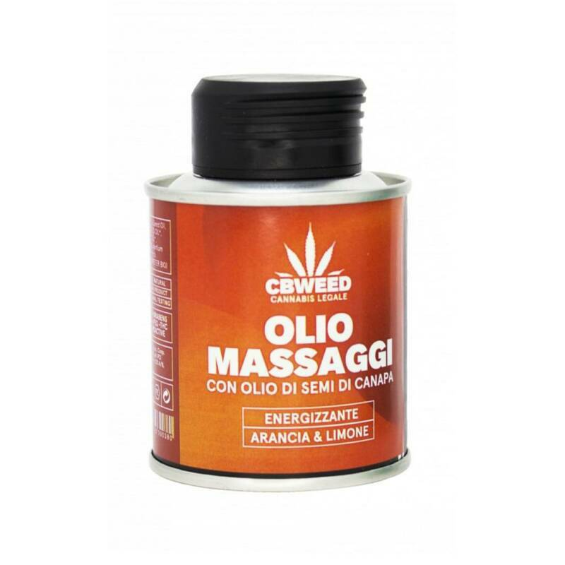 Orange and lemon aroma energizing massage oil 100ml