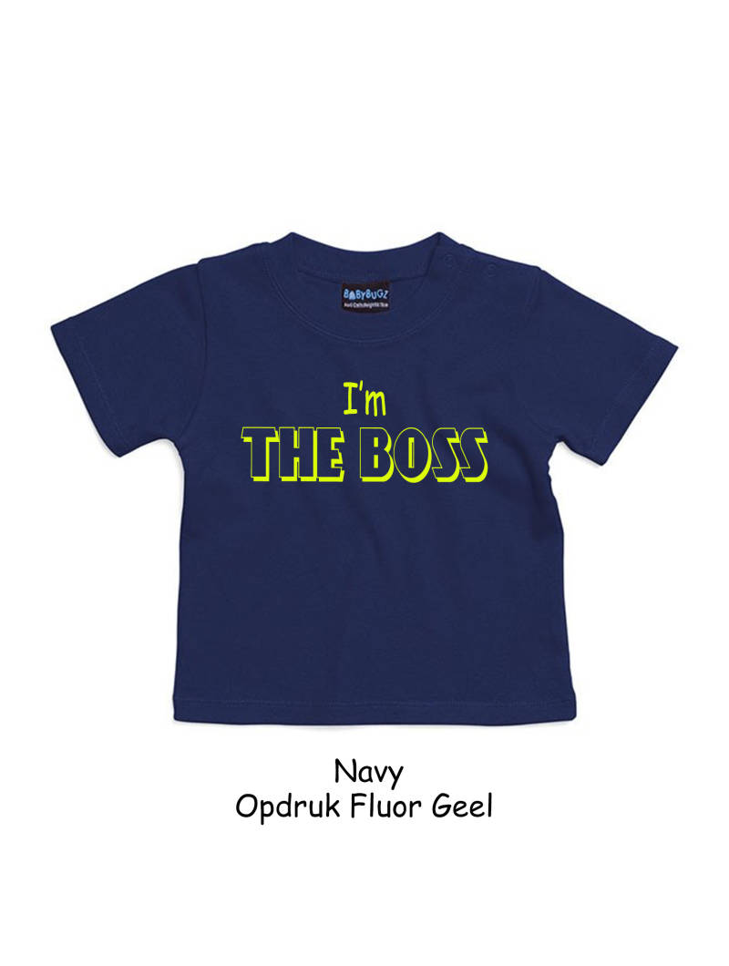 T-shirt korte mouw  I'M THE BOSS