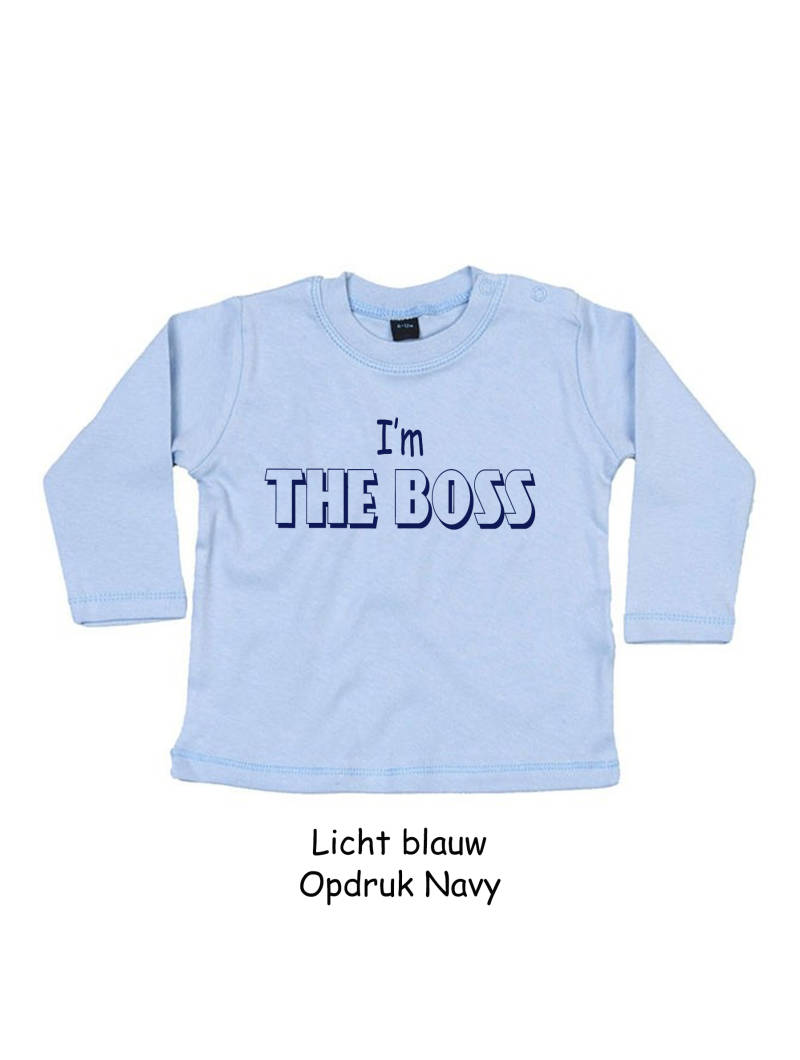 T-shirt lange mouw  I'M THE BOSS