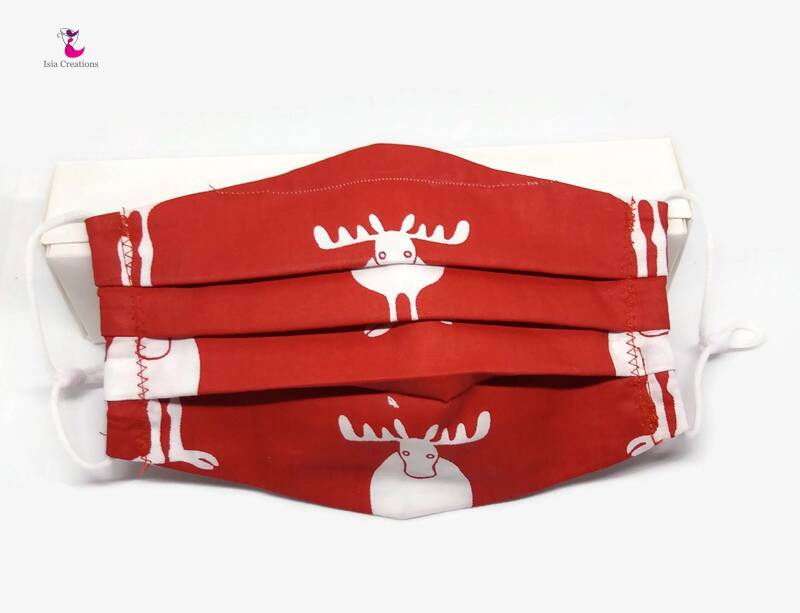 Christmas face mask with reindeer KM02