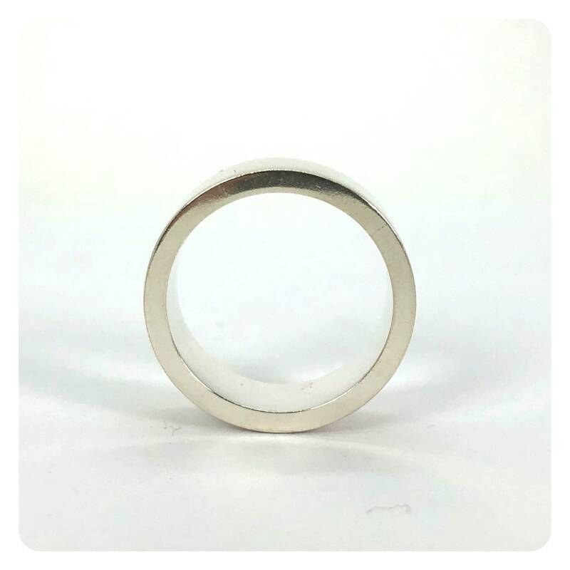 Solid Silver ring 2 mm thick