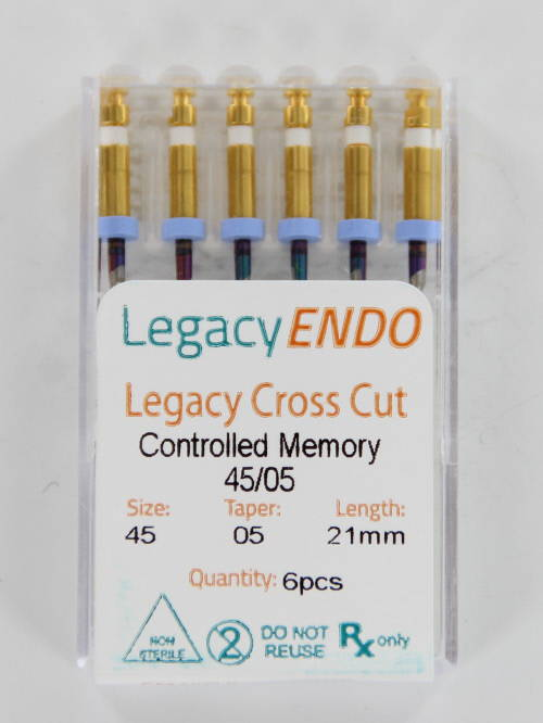 103866 LEGACY ENDO CROSS CUT 21mm .05 NR. 45 WIT (6st)