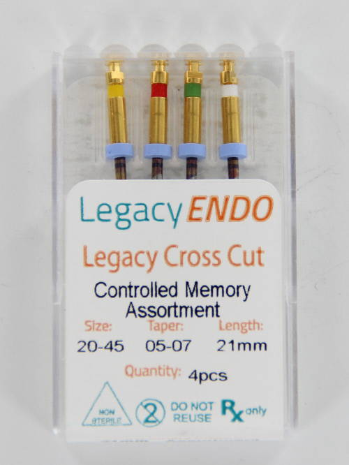 103875 LEGACY ENDO CROSS CUT 21mm ASSORTED (4st.)