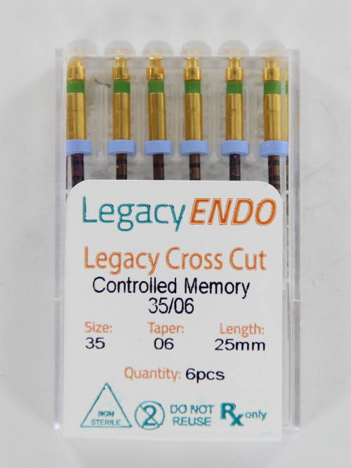 103869 LEGACY ENDO CROSS CUT 25mm .06 NR. 35 GROEN (6st)